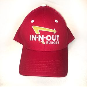 Other - In N Out Burger Red Baseball Cap Hat Size L/XL EUC